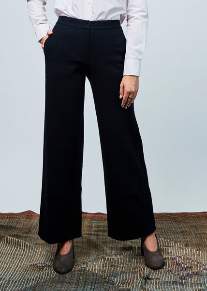 Ribbed Wool Blend Pant