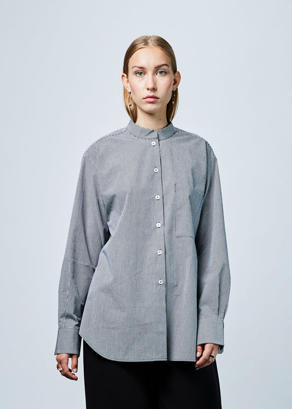 Oversize Straight Collar Shirt