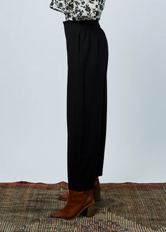 Gathered-Back Drop Pant