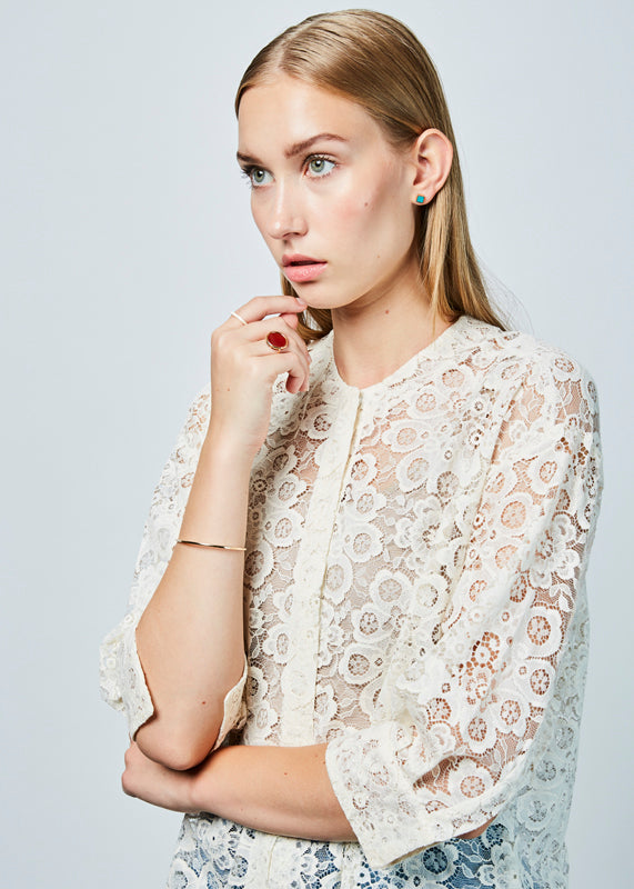 3/4 Sleeve Lace Shirt