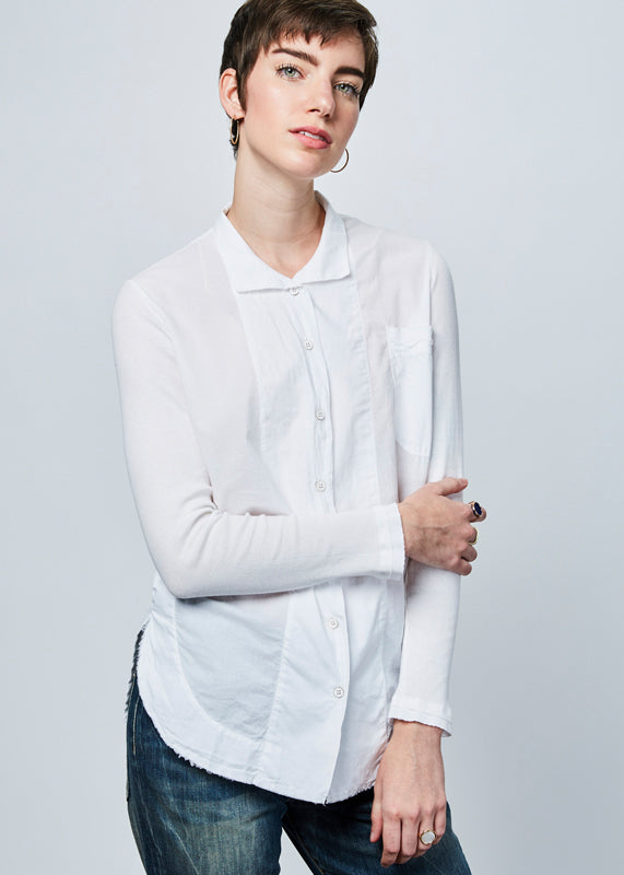 Chloe Rib Sleeve Shirt