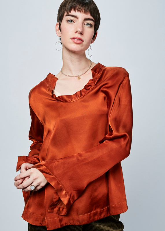 Mishy Open Neck Blouse