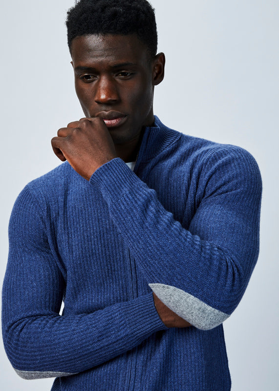Allude Men's Cashmere Zip Sweater