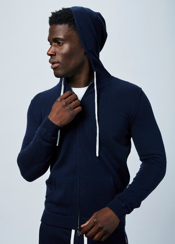 Allude Men's Wool and Cashmere Blend Hoodie
