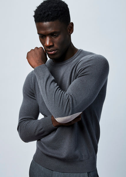 Elbow Patch Cashmere Sweater
