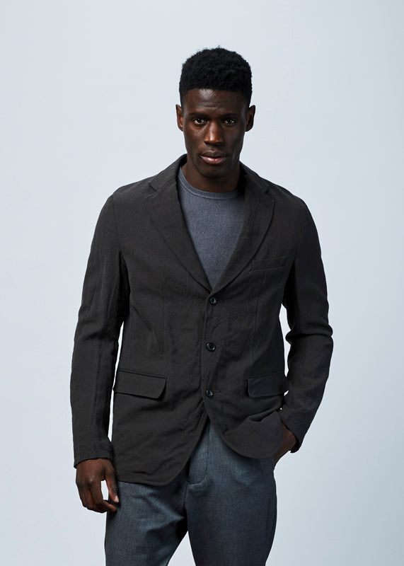 Wool and Linen Blend Blazer