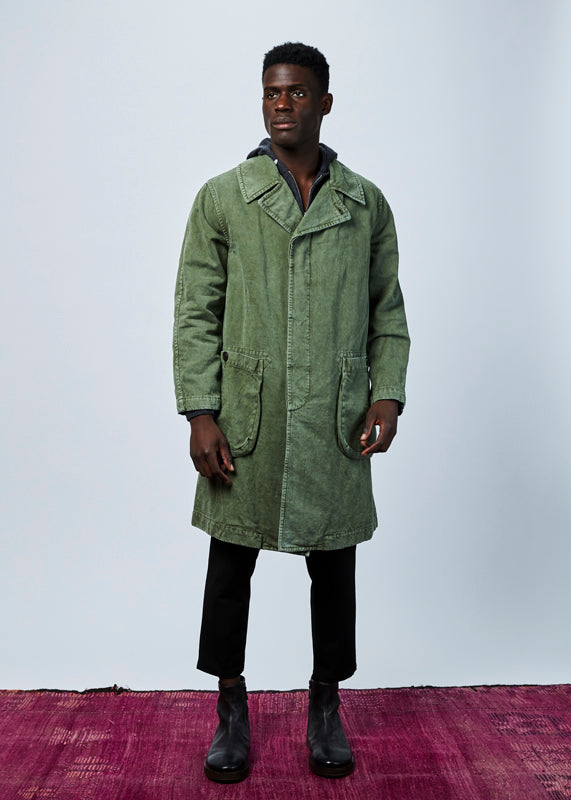 Washed Surplus Overcoat