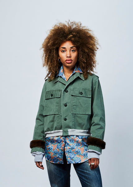 Cropped Fatigue Bomber