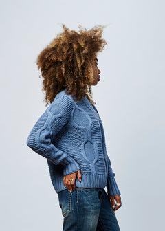 Modernist Cable Knit Sweater