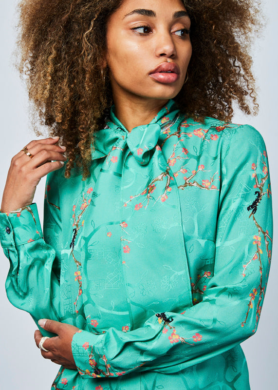 Almond Tree Bow Blouse