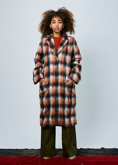 Plaid Mohair Overcoat