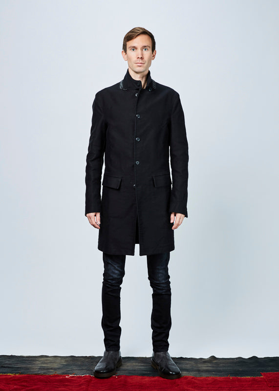 Hannes Roether Men's Zig Elbow-Patch Coat