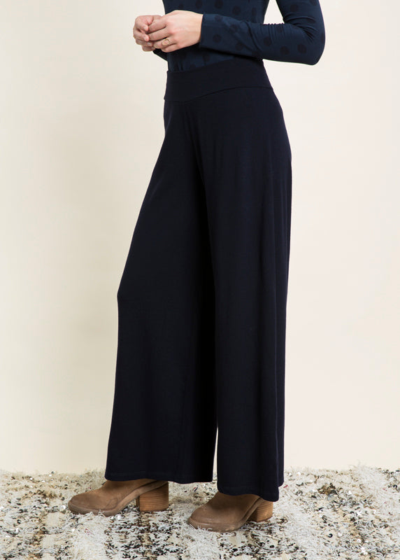 Idro Wide Leg Wool Pant
