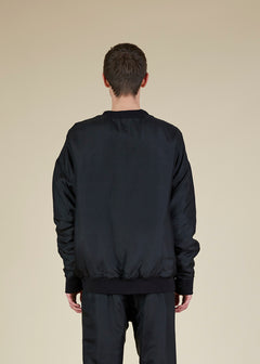 Vince Padded Silk Sweatshirt