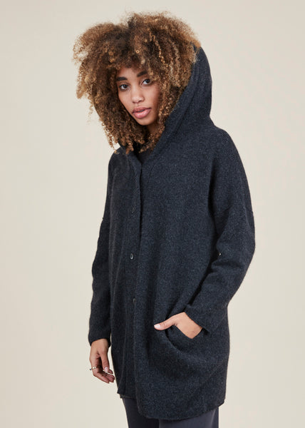 Hooded Cashmere Robe