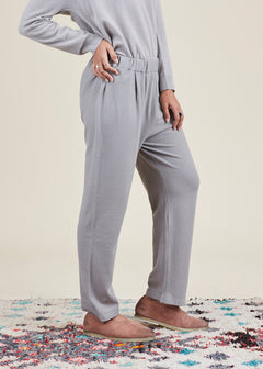 Pleated Knit Easy Pant