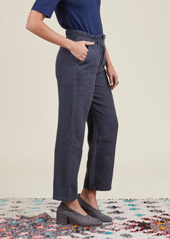 Belted Straight Pant