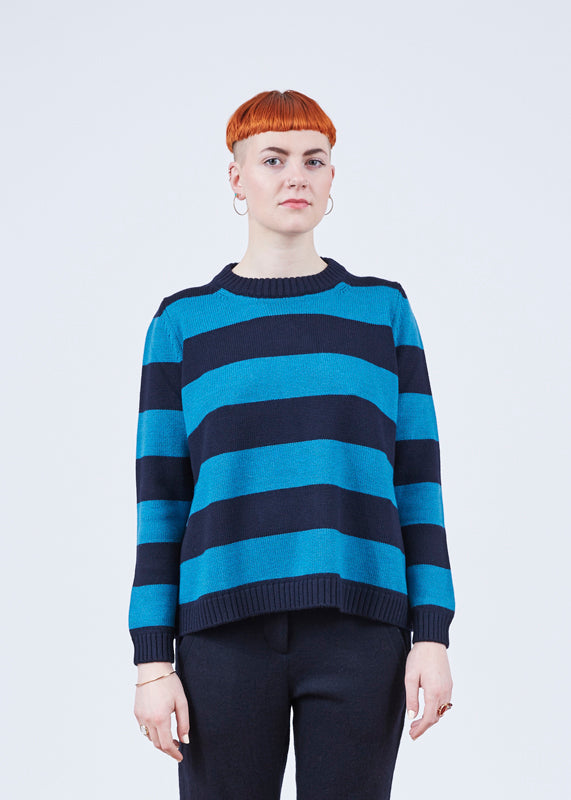 Gianna Striped Merino Sweater