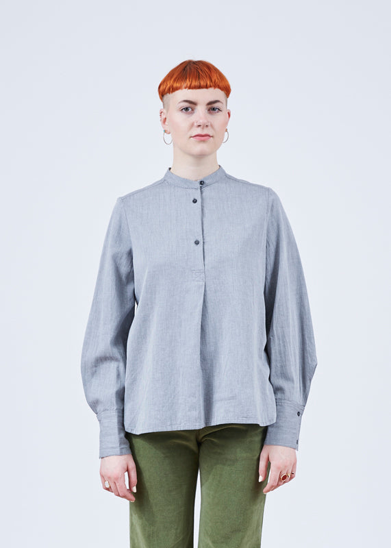 Theo Half-Placket Blouse