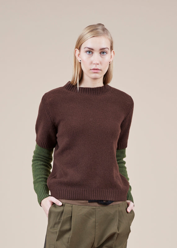 Sibel Saral Chift Double Sleeve Sweater