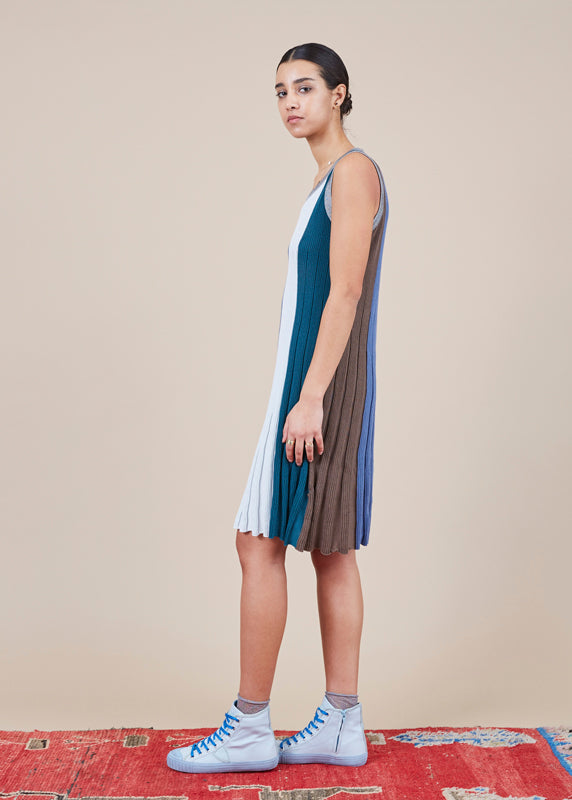 Mini Pleat Tank Dress