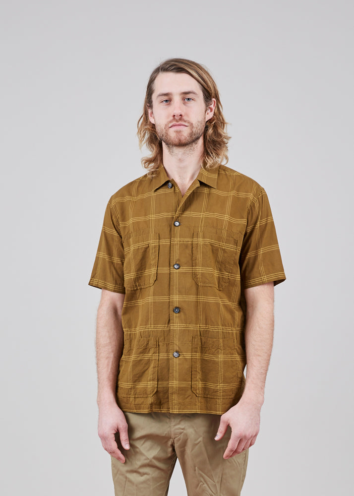 Sage de Cret Four Pocket Cotton and Silk Shirt