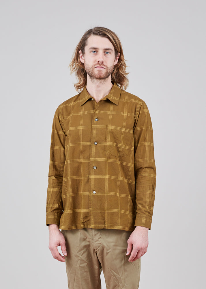 Sage de Cret Long Sleeve Cotton and Silk Shirt
