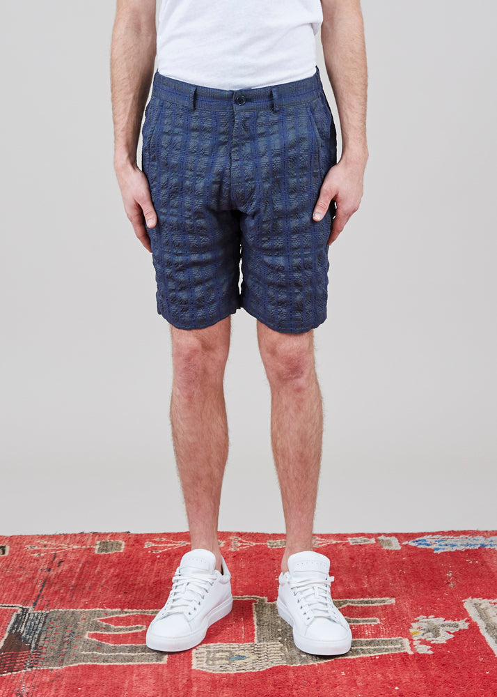 Sage de Cret Plaid Textured Short