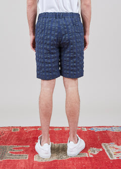 Plaid Textured Short