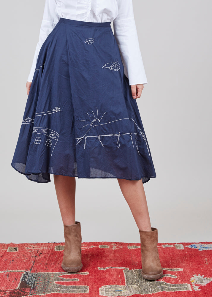 Helen Embroidered Skirt