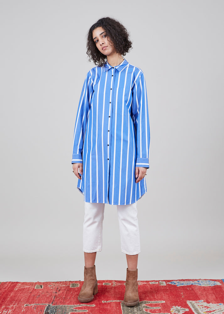 Lareida Brit Striped Shirtdress
