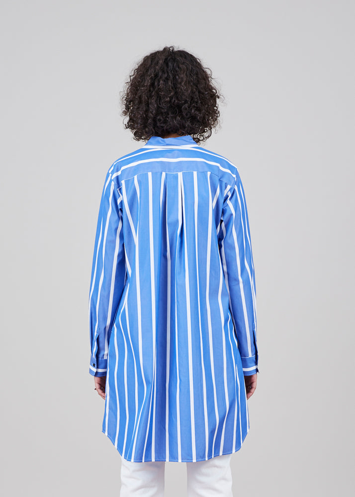 Brit Striped Shirtdress