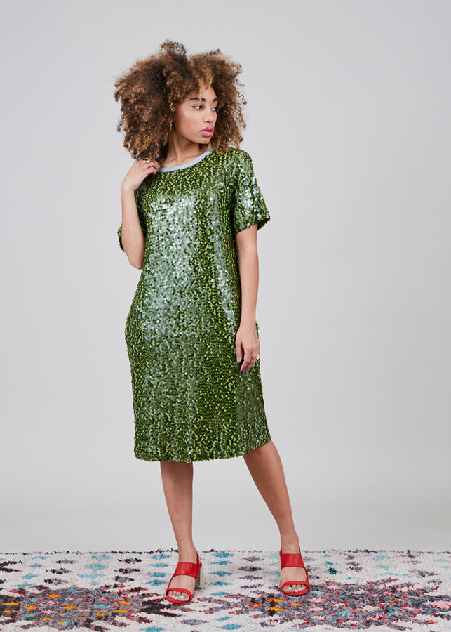 Odeeh Sequin T-Shirt Dress