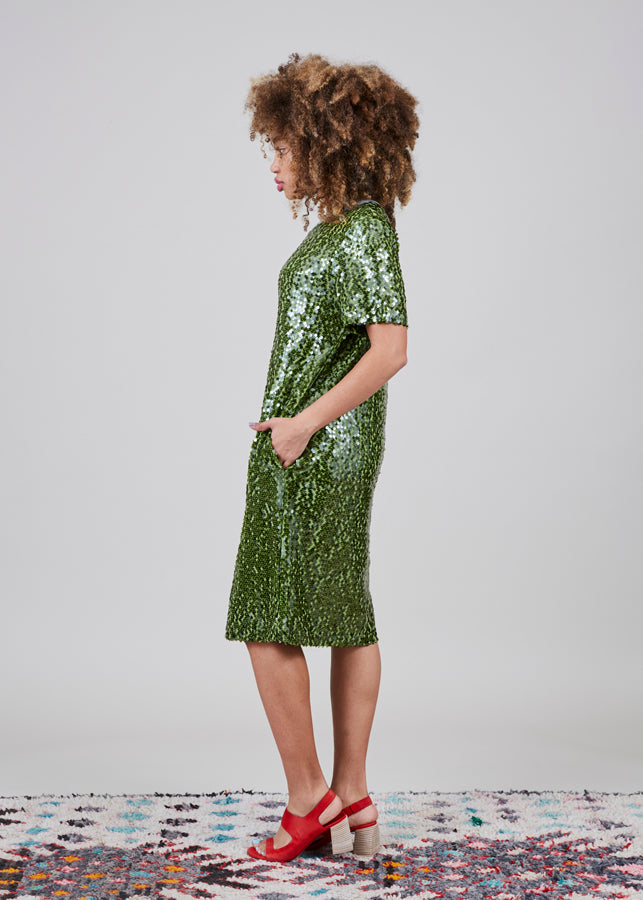 Sequin T-Shirt Dress