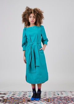 Belted 3/4 Sleeve Dress