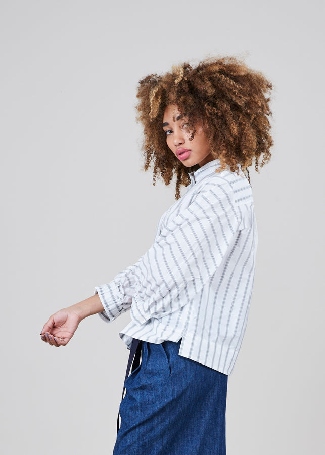 3/4 Sleeve Striped Shirt