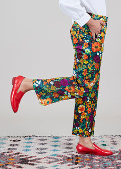 Textured Floral Trouser