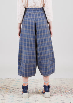 Plaid Primo Wide Leg Trouser