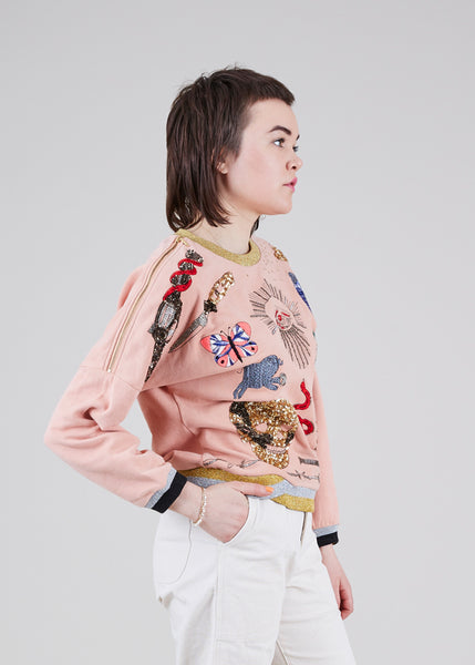 Viva La Vida Embroidered Sweatshirt