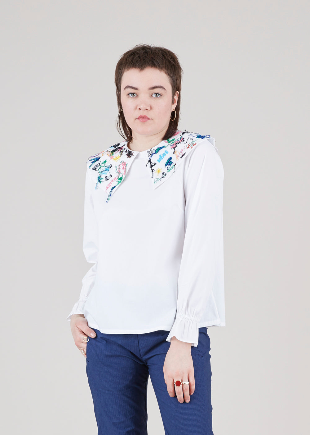 Mii Plate Collar Blouse