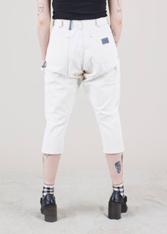 White on White Painter Pant with Gusset