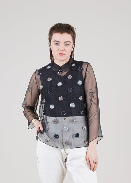 Sheer Alpaca Dot Shirt