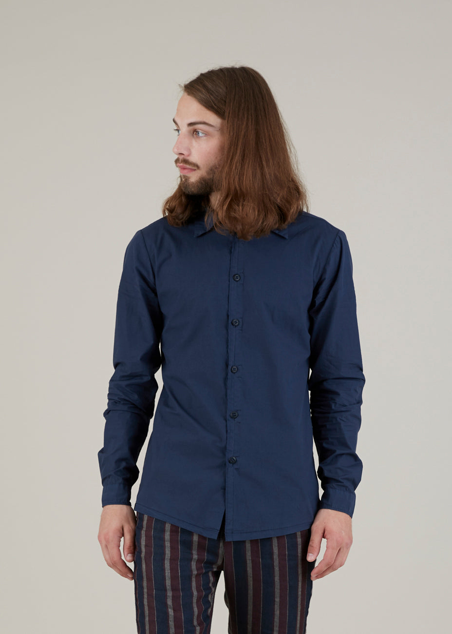 Hannes Roether Men's Fringe Button Up Shirt