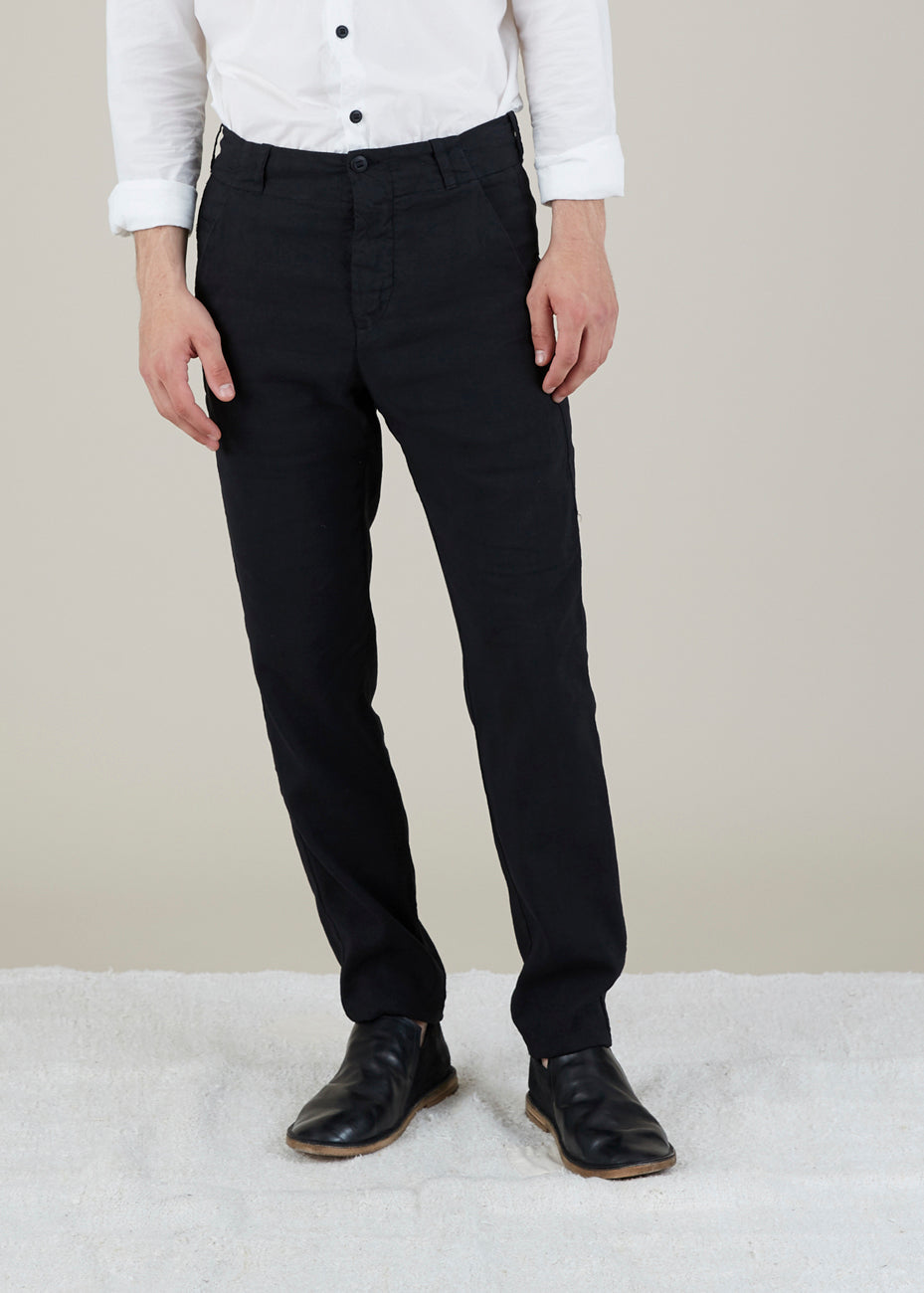 Hannes Roether Men's Linen Blend Track Pant