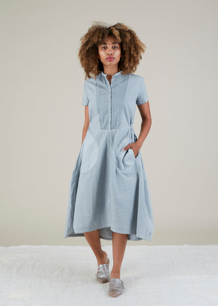 Rose Half-Placket Dress