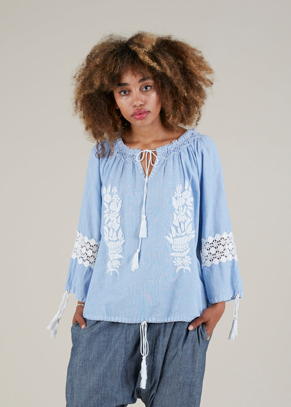 Borgia Embroidered Top
