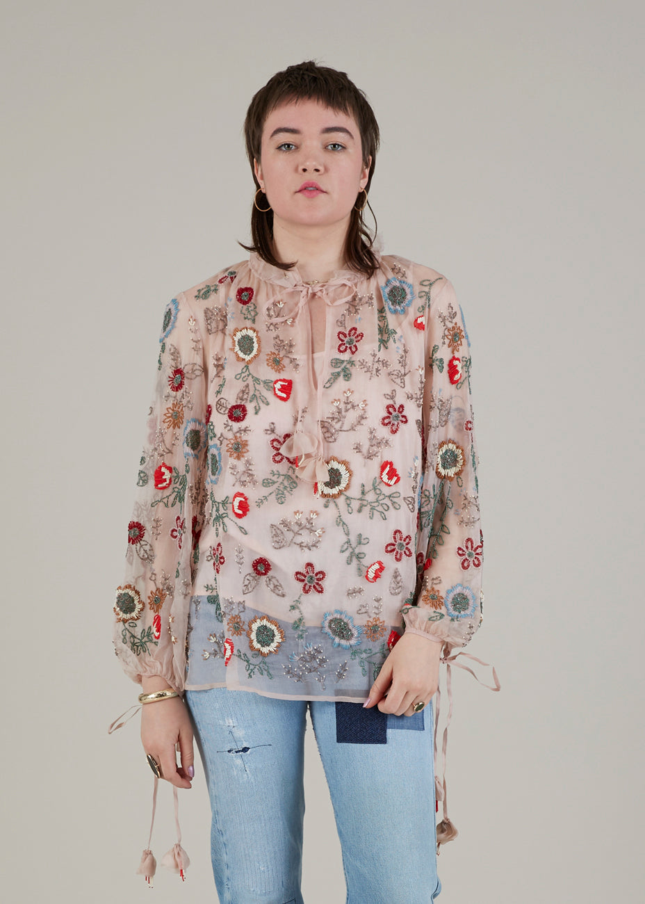 Carry On Beaded Blouse