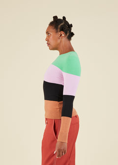 Colorblock Crewneck Sweater