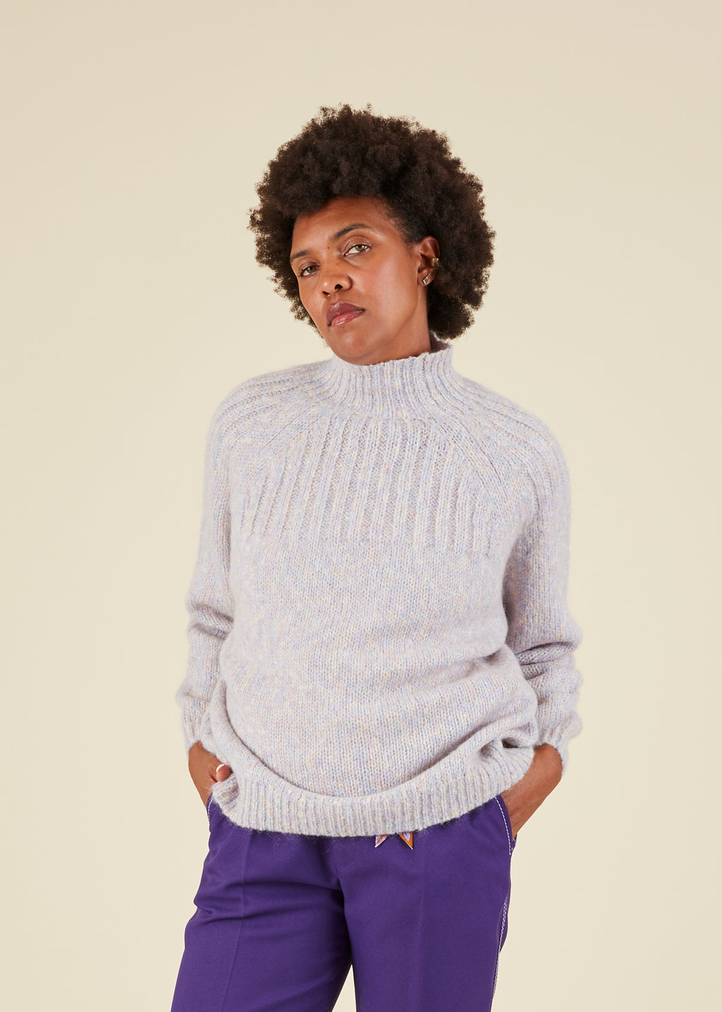 Hansel from Basel Cybil Mock Neck Sweater