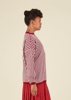 Striped Merino Crewneck Sweater